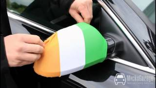 Euro 2012 Ireland Wing Mirror Flags From MicksGarage - Watch to the end!