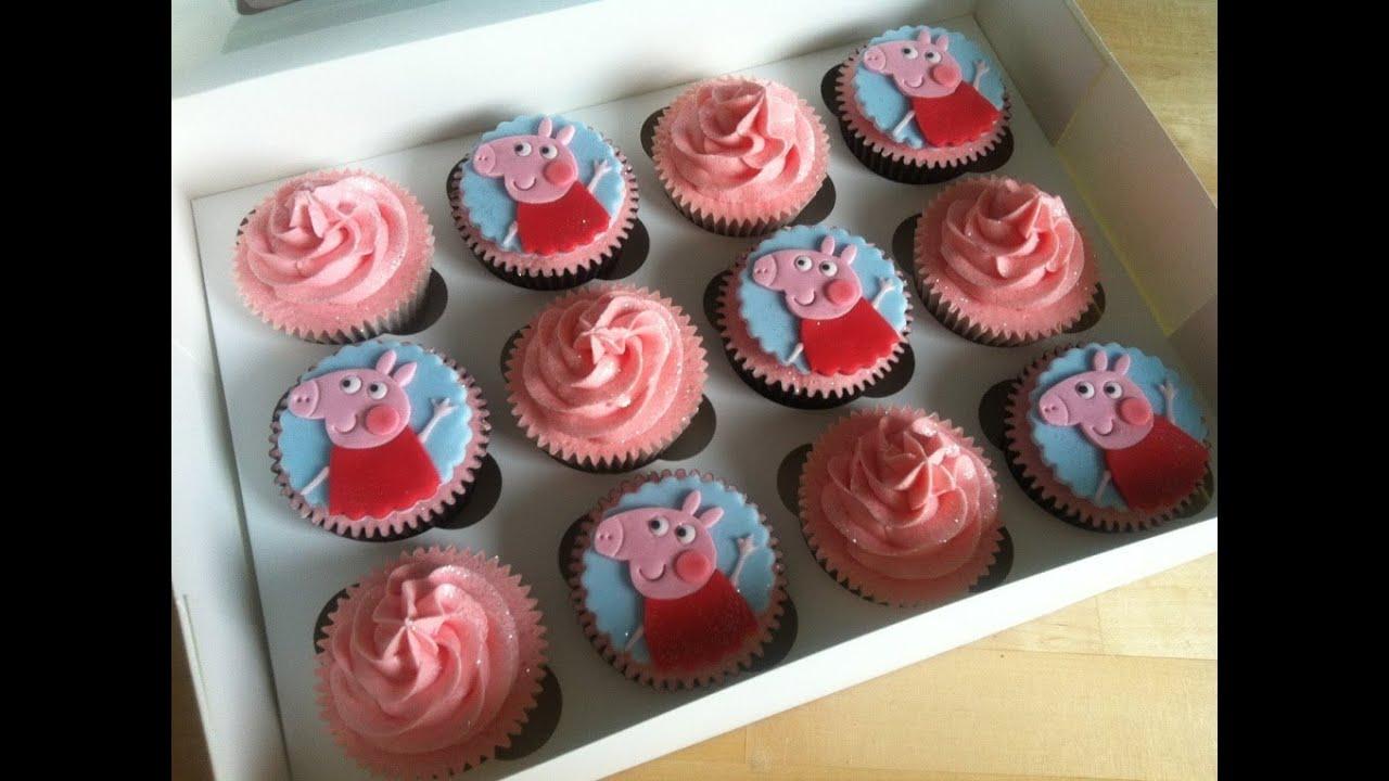 Peppa Pig Cupcakes Birthday Cake Cupcake Mania YouTube