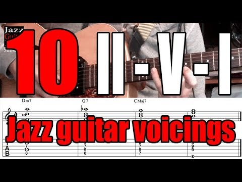 II-V-I Jazz Guitar Voicings | 10 Exercises