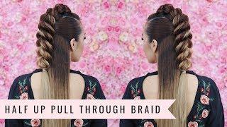 Half Up Pull Through Braid🎀 by SweetHearts Hair