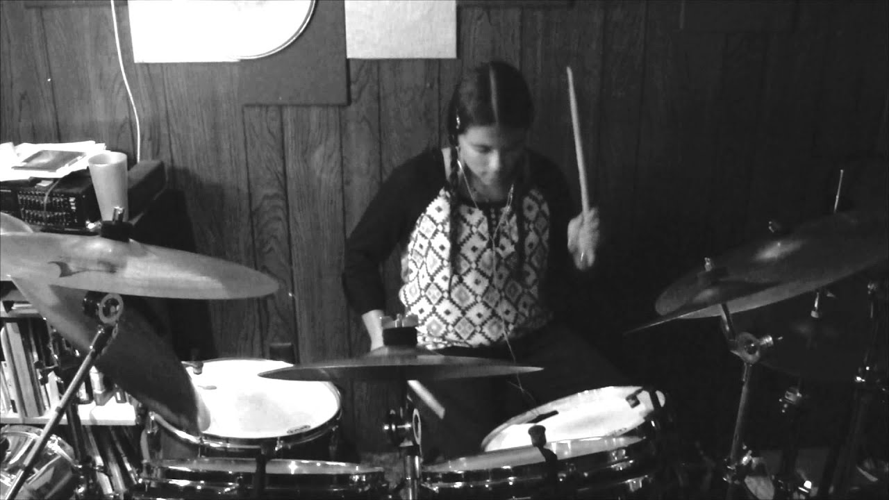 girl playing drums - HD 1920×1080