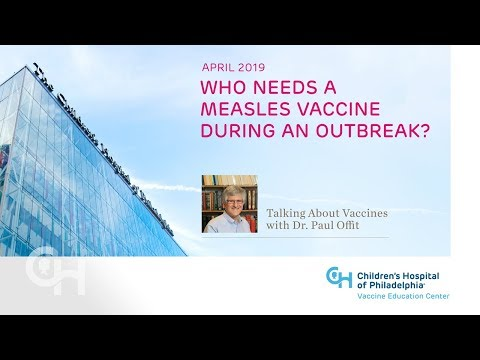 April 2019 – Who Needs a Measles Vaccine During an Outbreak?