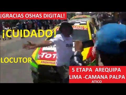 RALLY CAMINOS DEL INCA 2018 ¡MIRA PASAN LOS AUTOS CARRERA DE AUTOS POR ATICO
