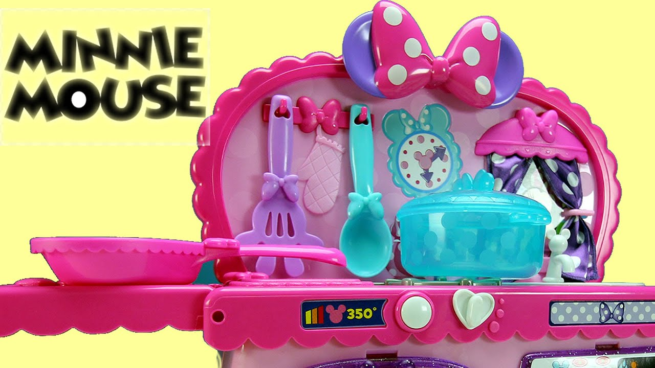 Disney Minnie Mouse Kitchen Playset Review Kids Toys │ Play Doh ...