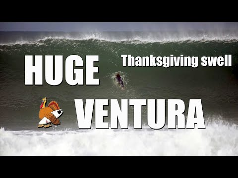 Ventura Thanksgiving Day HUGE Surf