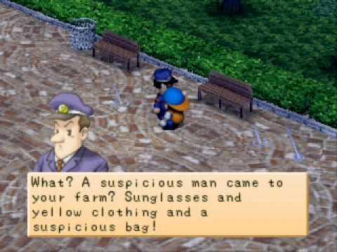 Harvest Moon Back to Nature - Harris (Policeman) and Won (Strange salesman)  - Day 3