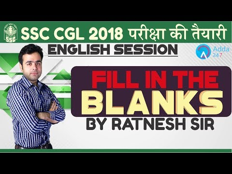 SSC CGL | Fill in The Blanks | English | Ratnesh sir