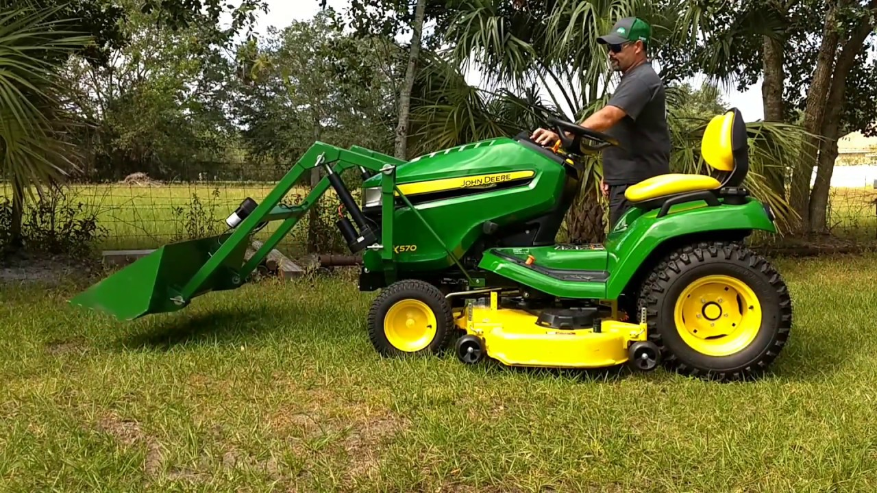 Electric Bucket Loader For Garden Tractor 863 255 1237 Little Green Youtube