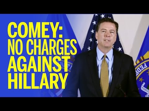 No Charges Recommended For Hillary Clinton