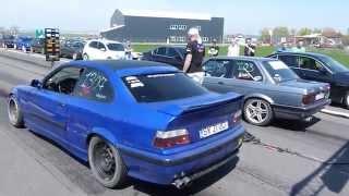 Drag Racing CAMPIA TURZII BMW E30 V8 vs BMW E36 2.5i