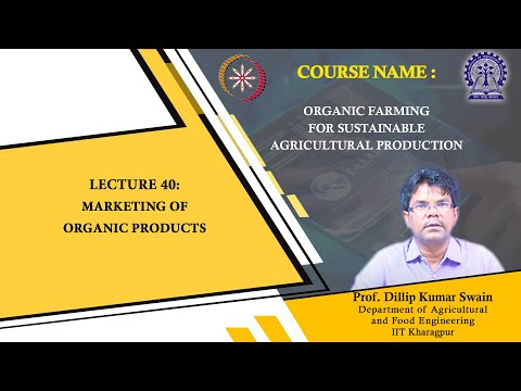Lecture 40 : Marketing of Organic Products