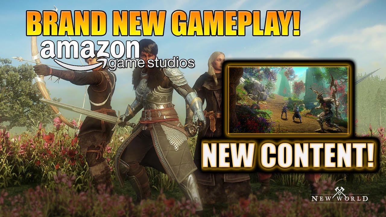 Brand New Gameplay! New World MMO Gameplay! Amazon's New World MMO Gameplay Reveal!