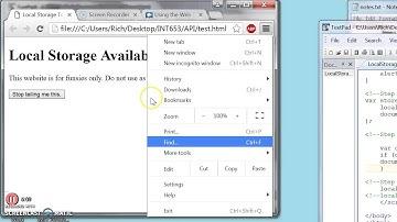 LocalStorage HTML5 - Site Disclaimer