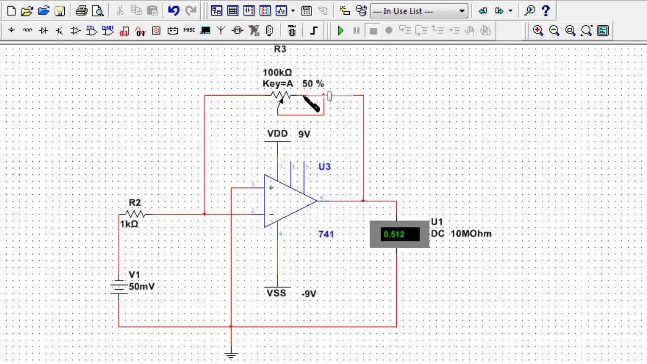 Opamp Circuit Design 1 And Multisim Simulation Of An Instrumentation Amplifier Diagram Inverting Youtube