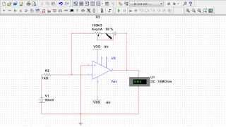 OpAmp Circuit Design 1: Design and MultiSim Simulation of an Inverting OpAmp