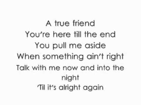 Hannah Montana - True Friend (lyrics) - Hannah Montana ...