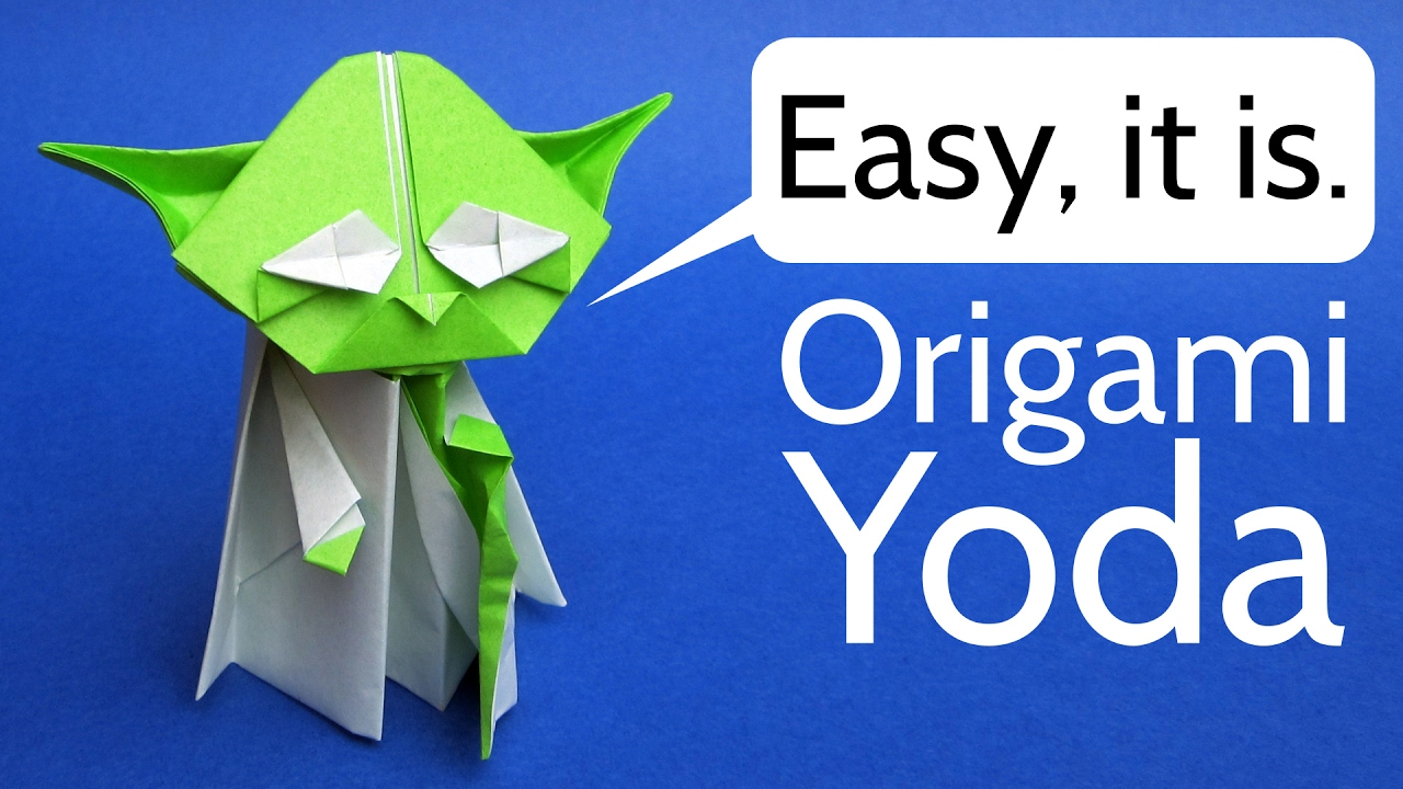 Origami Yoda Easy Tutorial Star Wars Origami