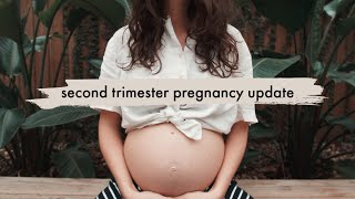 Gambar cover second trimester | how i've been feeling + belly update