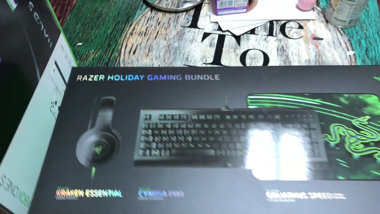 e67ff78aa51 Razer Holiday Gaming Bundle Unboxing! - YouTube