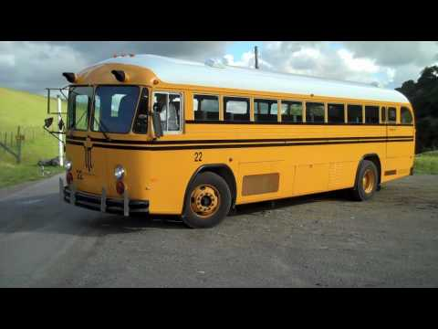Learning to drive a 10 speed school bus!