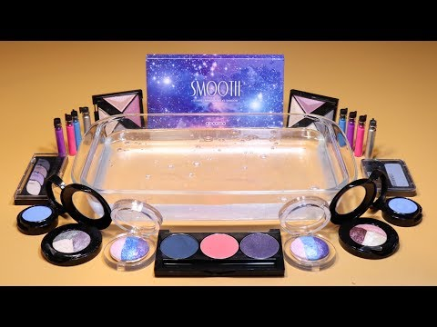 """Theme Series #10 """"Galaxy Part2"""" Mixing EYESHADOW And glitter Into Slime! """"GalaxySilme"""""""