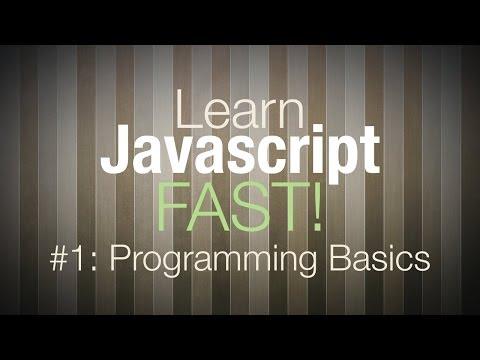 Javascript Tutorial - Programming Tutorial for Beginners Pt 1