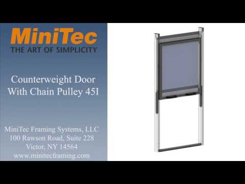 Minitec - Counterweight Door With Chain Pulley 45I - YouTube