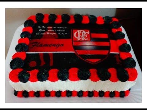 Bolo do Flamengo Decorado com Bico 4B