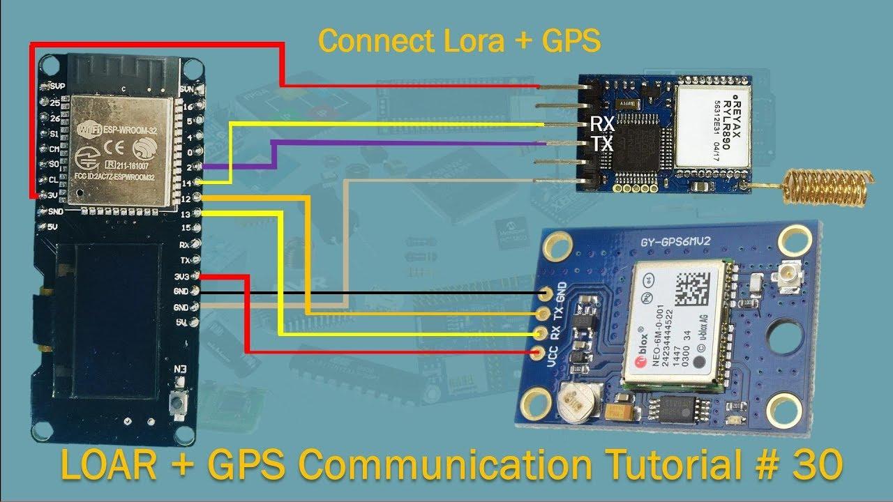 Lora + GPS + ESP32 OLED + NodeMcu | Tutorial # 30