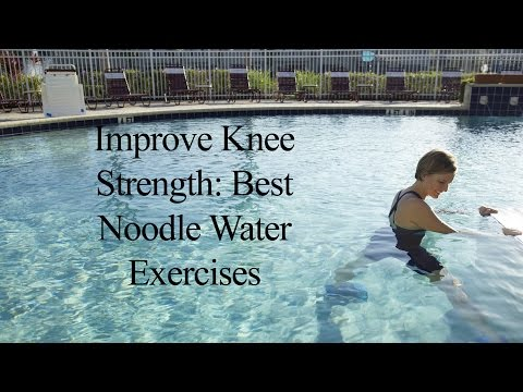 Aqua Noodle: Knee Strengthening WATER NOODLE WORKOUT#3 - WECOACH