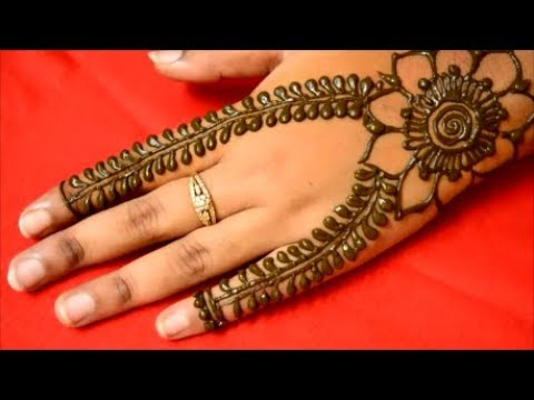 Simple Easy Arabic Mehndi Design* Floral Mehndi Henna Designs For Back  Hands For Begineers