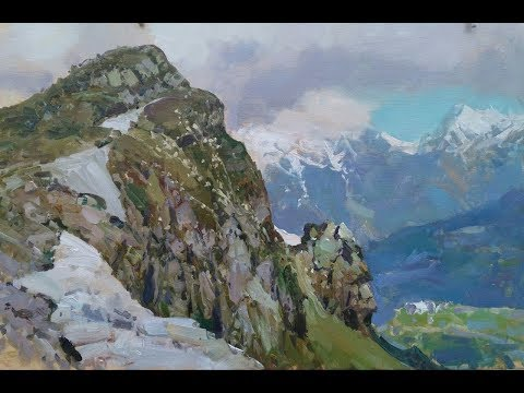 Oil painting masterclass Rosa Khutor 2017