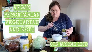 MAKING DIFFERENT MEALS FOR MY AUTISTIC KIDS?! VEGAN, KETO, & PESCATARIAN