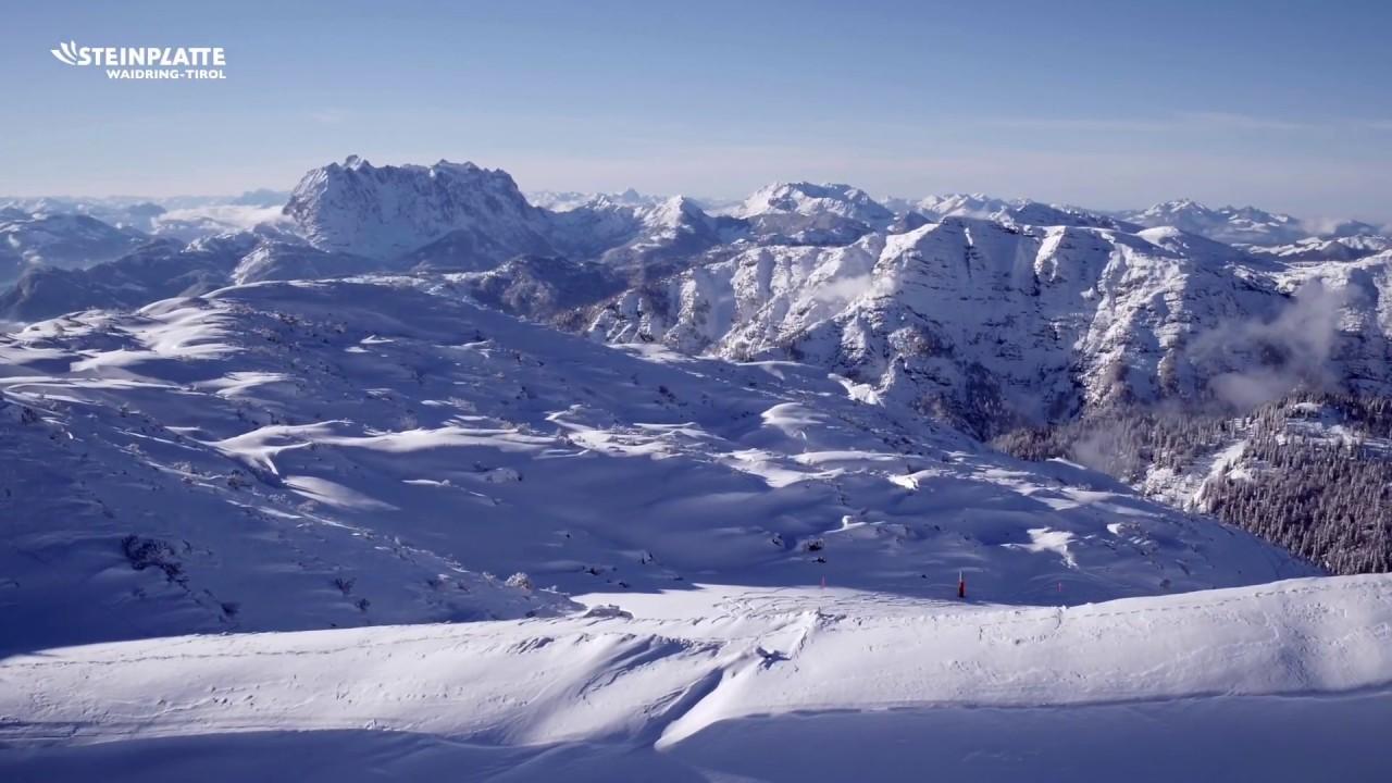 Skigebiet Steinplatte Drohnen Clip