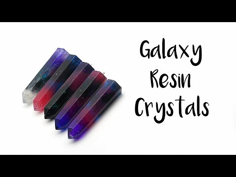 Making Galaxy Resin Crystals