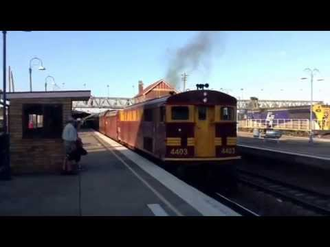 NSWGR Loco 4403 starting from Goulburn for Canberra