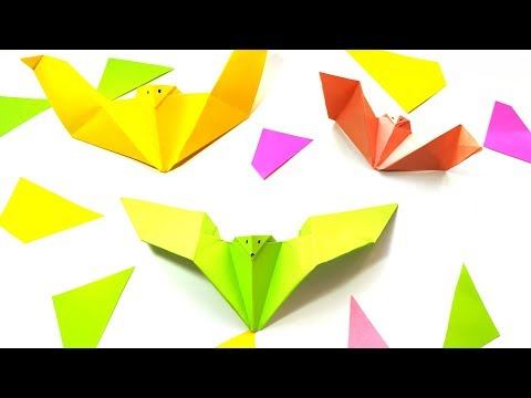 super-easy-origami-bat-tutorial-🦇---diy-paper-crafts-ideas-for-halloween-home-decor
