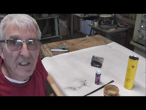 FLOCKING, How to get a velvet finish on any surface, demonstration