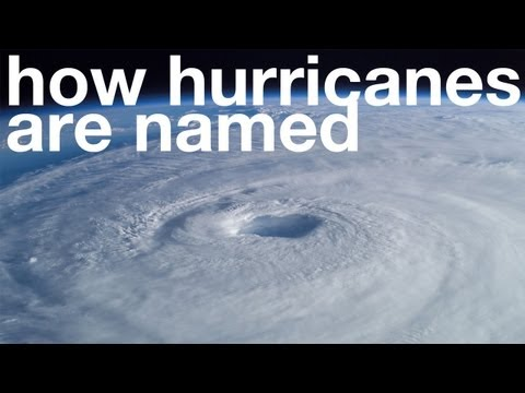 How Hurricanes are Named