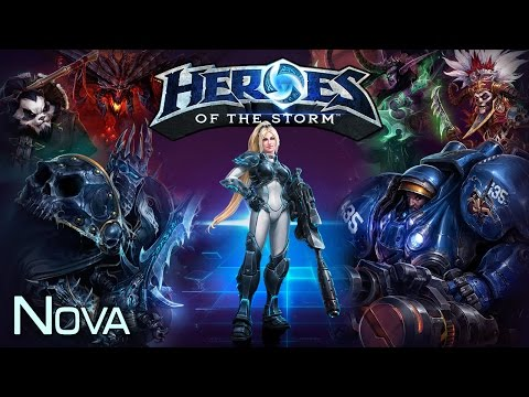 видео: heroes of the storm [no stream] - nova 21.07.14 (2)