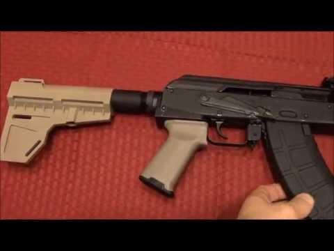 Draco AK-47 Upgrades- KAK Industries Stabilizing Brace & Magpul Grip