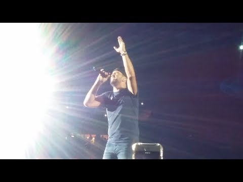 Fan Hits Luke Bryan in the Face With Bra at Syracuse Show