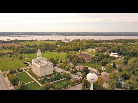 Drone Over The Mississippi: Nauvoo IL, Fort Madison IA, And Canton MO