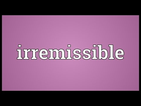 Header of irremissible