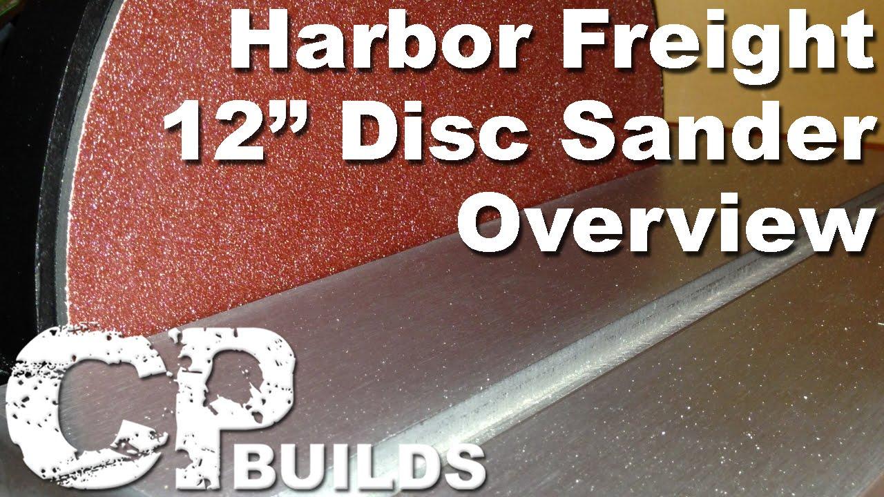 bench sander harbor freight. harbor freight 12-inch disc sander overview bench