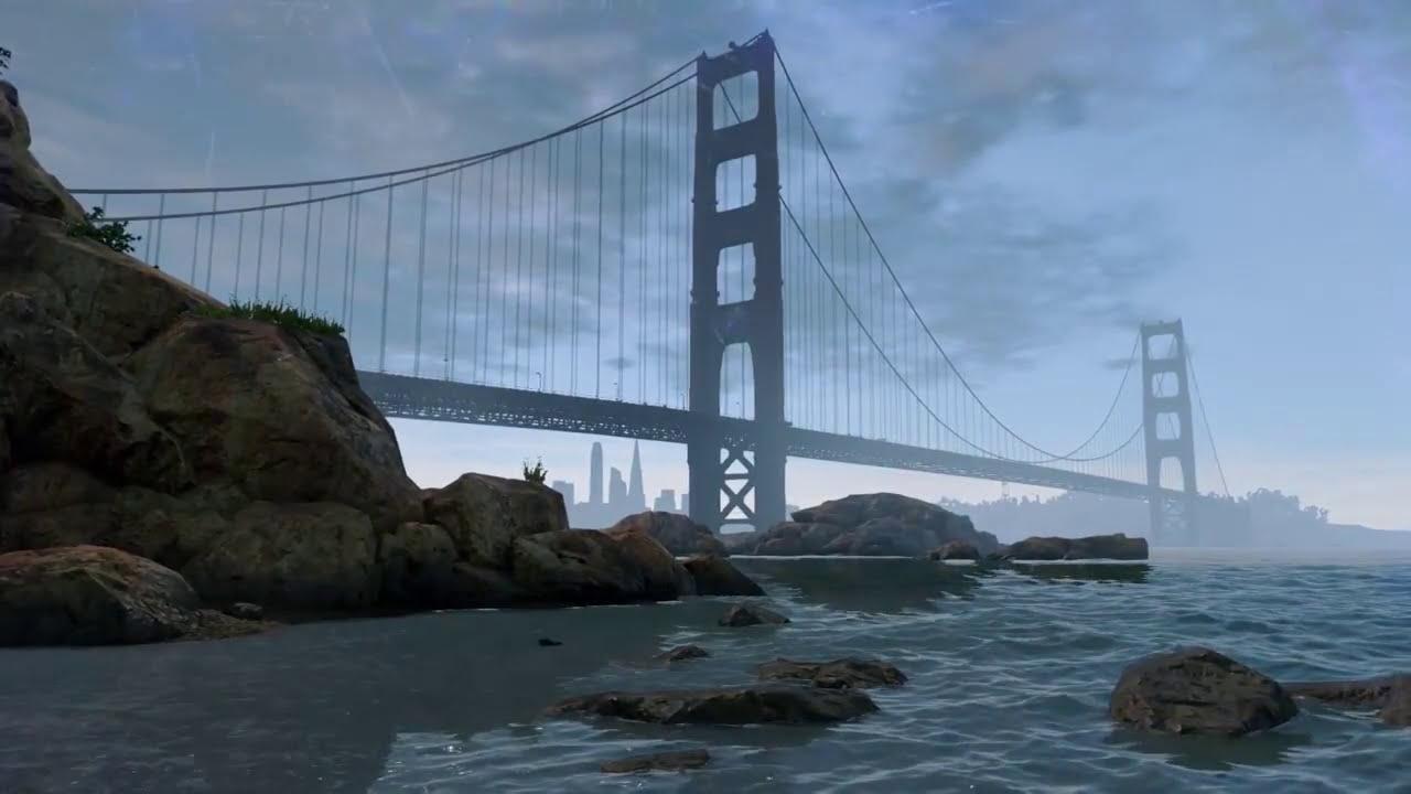 Watchdogs 2 Live Wallpaper Golden Gate Dreamscene Hd Youtube