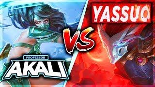 PROFESSOR AKALI VS. YASSUO! CHALLENGER YASUO MAIN (#1 YASUO) VS. MASTER AKALI - League of Legends