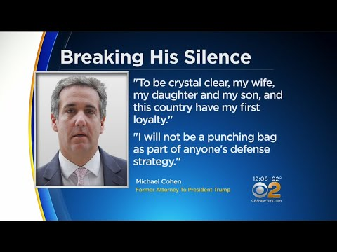 Trump Attorney Michael Cohen Breaks Silence