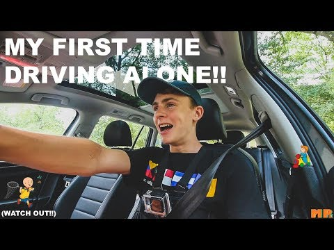 MY FIRST TIME DRIVING ALONE!!