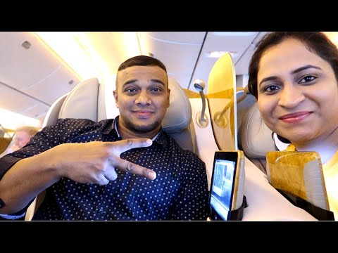 Emirates Airline Business Class - Dubai to Hanoi | HINDI VLOG